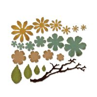 Sizzix Thinlits Small Tattered Florals Die Set