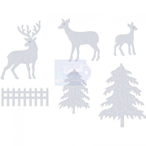 Snowy Scene Deer Die Cutting Set (OUT OF STOCK)