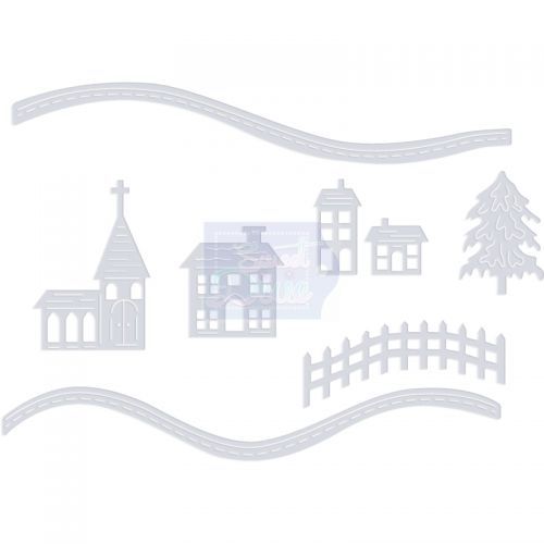 Snowy Scene Houses Die Cutting Set