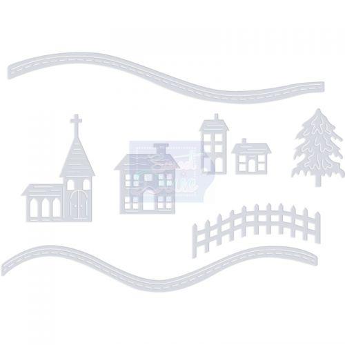 Snowy Scene Houses Die Cutting Set