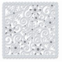 Sparkling Snowflake Square Die