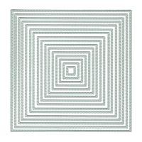 Presscut Square Frames Nesting Dies Stitch Dot