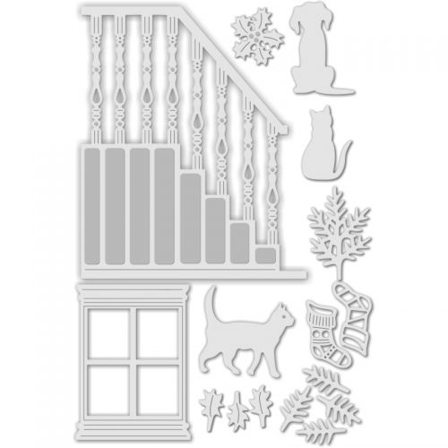 Staircase and Window with Accessories Die Set