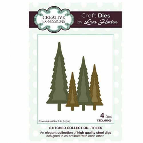 Stitched Christmas Trees Die Set (OUT OF STOCK)
