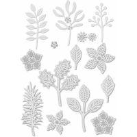 Stitched Winter Foliage Die Set