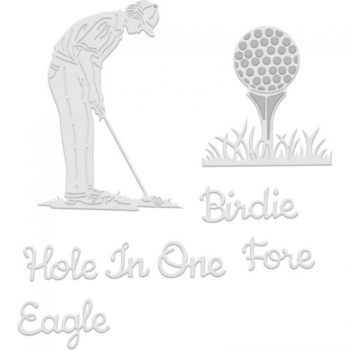 Golfer and Golf Ball Die Set