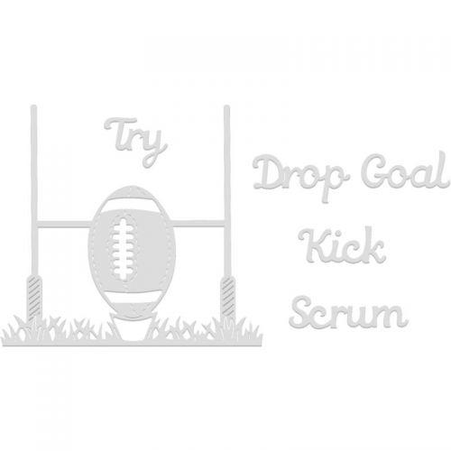 Rugby Ball Posts Die Set