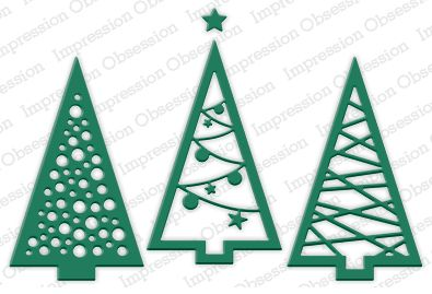 Three Christmas Trees Die Cutting Set