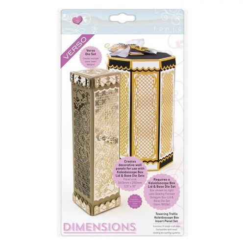 Towering Trellis Kaleidoscope Box Panel Die Set