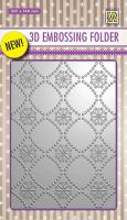 3D Embossing Folder Background Flowers 2