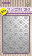 3D Embossing Folder Background Flowers 1