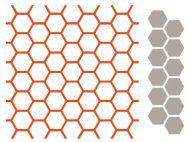 Hexagon Chicken Wire Embossing Folder and Die Set