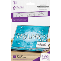 Gemini Thanks Cut and Emboss Folder
