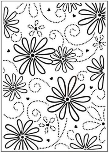 Daisy and Swirl Embossing Folder
