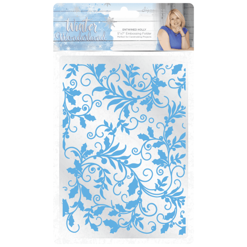 Crafters Companion Holly Flourish Embossing Folder (OUT OF STOCK)