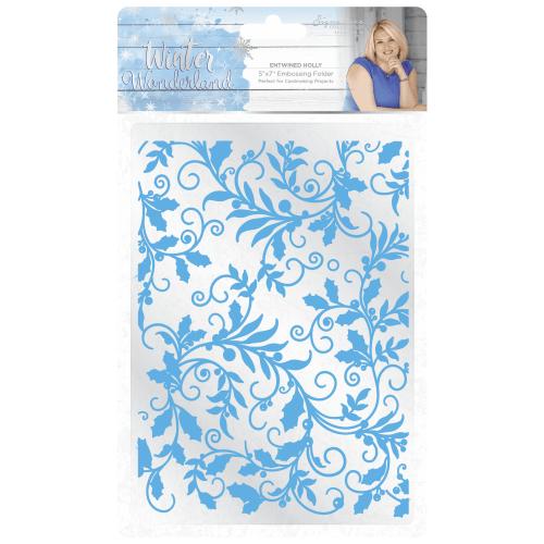 Crafters Companion Holly Flourish Embossing Folder