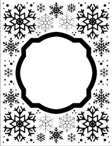 Embossing Folder Eve's Snowflakes