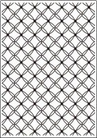 Fancy Lattice Embossing Folder