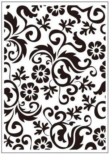 Flower Flourish Embossing Folder