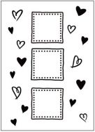 Hearts and Frames Embossing Folder