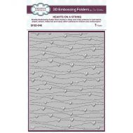 Hearts On A String 3D Embossing Folder