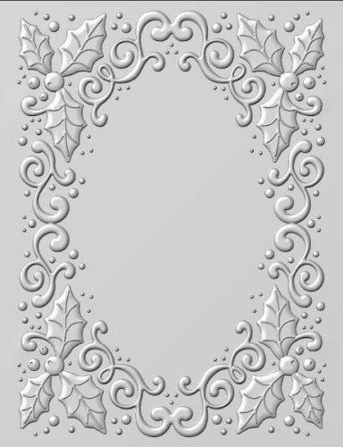 3D Embossing Folder Holly Swirls