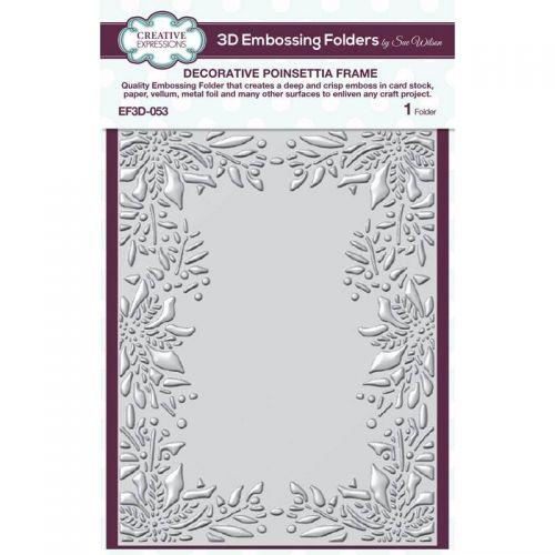 Poinsettia Frame 3D Embossing Folder