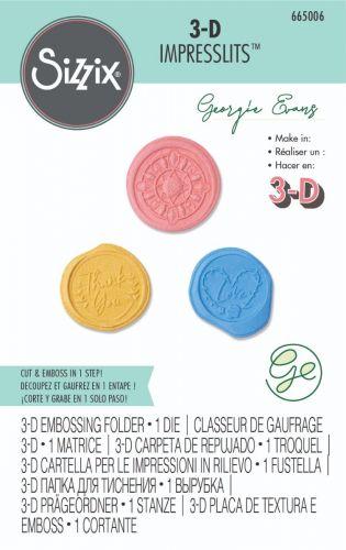 3D Impresslits Wax Seals Cut and Emboss Folder