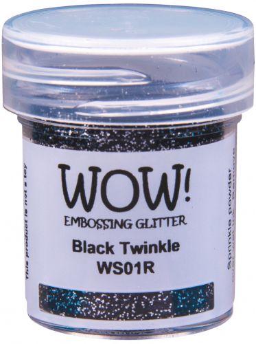 WOW Embossing Glitter Black Twinkle