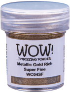 WOW Embossing Powder Metallic Gold Rich