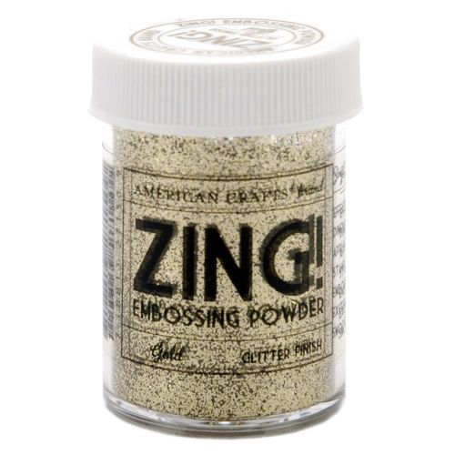 Zing Embossing Powder Gold Glitter