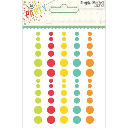 Lets Party Enamel Dots