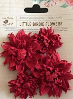 Chrissy Mulberry Paper Flowers Red
