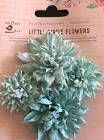 Chrissy Mulberry Paper Flowers Turquoise
