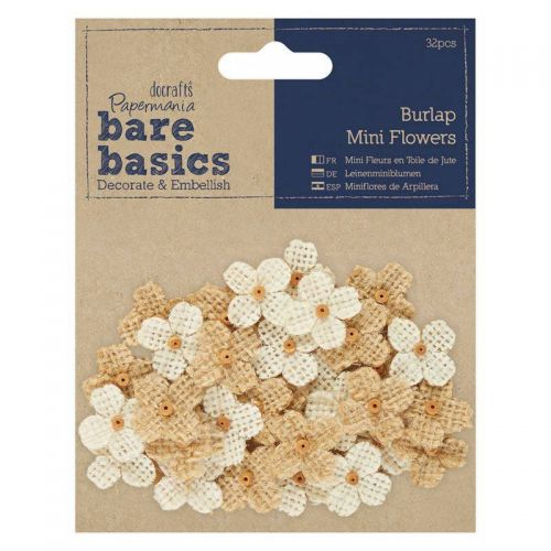 Burlap Hessian Mini Flowers (OUT OF STOCK)