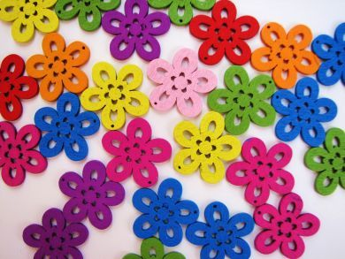 Wooden Daisy Flowers