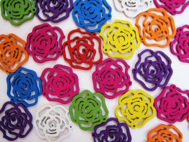 Wooden Rose Flowers