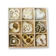 Wooden Heart Shaped Embellishments