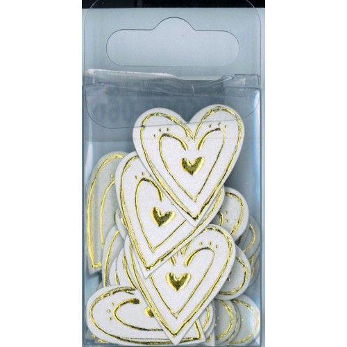 Love Heart Embellishment Large Gold
