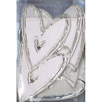 Love Heart Embellishment Large Silver