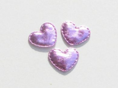 Pink Padded Shiny Hearts