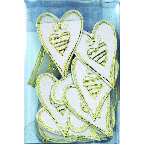 Love Heart Embellishment Small Gold