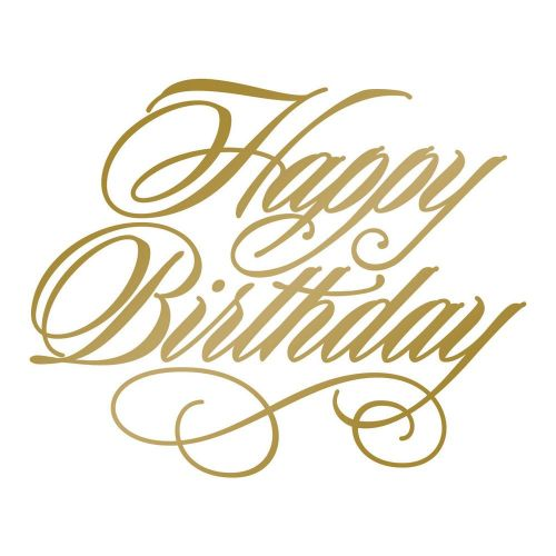 Hot Foil Stamp Happy Birthday