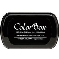 ColorBox Archival Dye Ink Pad Wicked Black