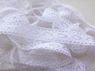 2.5cm Crochet Lace White