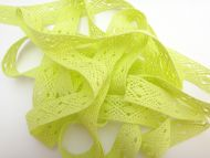 2cm Crochet Lace Lime Green