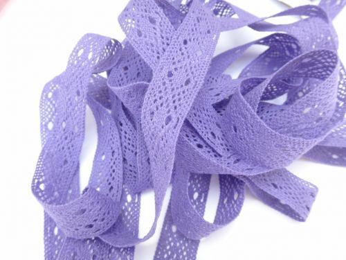 2cm Crochet Lace Purple