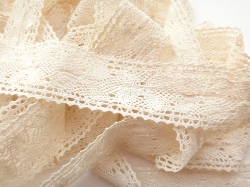 3.5cm Crochet Lace Cream