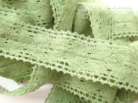 3.5cm Crochet Lace Green