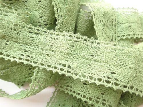 3.5cm Crochet Lace Green